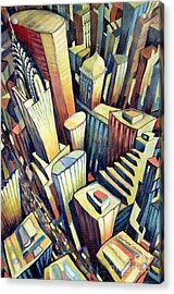 The Chrysler Building Acrylic Print by Charlotte Johnson Wahl