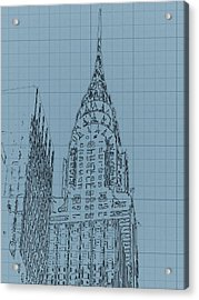 The Chrysler Building Acrylic Print by Dan Sproul