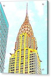 The Chrysler Building Acrylic Print by Ed Weidman