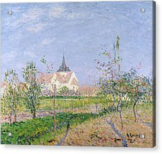 The Church At Vaudreuil Acrylic Print by Gustave Loiseau