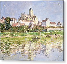 The Church At Vetheuil, 1880 Acrylic Print by Claude Monet