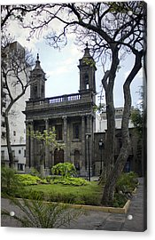 The Church Green Acrylic Print by Lynn Palmer