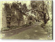 Acrylic Print featuring the photograph The Church Lane by Elaine Teague