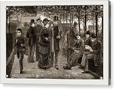 The Churchyard, St Acrylic Print by Litz Collection