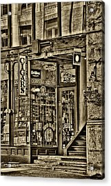 The Cigar Store In Seattle Washington Acrylic Print by David Patterson