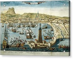 The City And Port Of Barcelona 18th C Acrylic Print by Everett