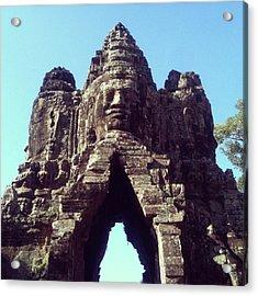 The City Gates At Angkor Acrylic Print