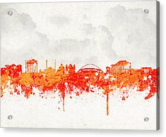 The City Of Athens Greece Acrylic Print by Aged Pixel