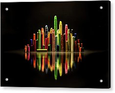The City Of Colors Acrylic Print