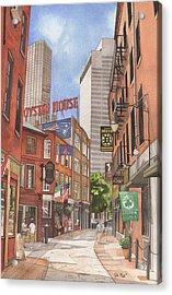 The City On A Hill Acrylic Print