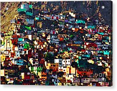 The City On The Hill V1 Acrylic Print by Wingsdomain Art and Photography