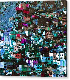 The City On The Hill V1p168 Square Acrylic Print by Wingsdomain Art and Photography