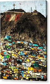 The City On The Hill V2 Acrylic Print by Wingsdomain Art and Photography