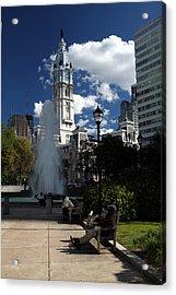 Acrylic Print featuring the photograph The Cityhall Of Philadelphia 001 by Dorin Adrian Berbier