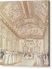 The Civil Ceremony Of The Marriage Of Napoleon Bonaparte 1769-1821 And Marie-louise 1791-1847 Acrylic Print by C Percier