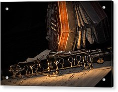 The Clarinet And The Concertina Acrylic Print by Ann Garrett