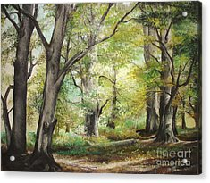 Acrylic Print featuring the painting The Clearing by Sorin Apostolescu