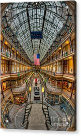 The Cleveland Arcade Vii Acrylic Print by Clarence Holmes