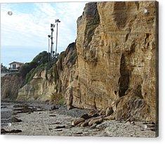 The Cliffs Acrylic Print by John Wilson