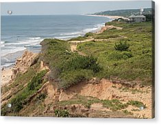 The Cliffs Of Montauk Looking West Acrylic Print by Christopher Kirby