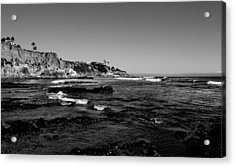 The Cliffs Of Pismo Beach Bw Acrylic Print