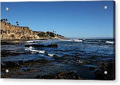 The Cliffs Of Pismo Beach Acrylic Print by Judy Vincent