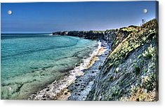 The Cliffs Of Pointe Du Hoc Acrylic Print