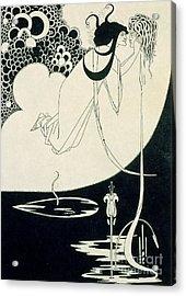 The Climax Acrylic Print by Aubrey Beardsley
