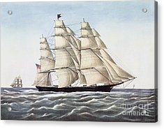 The Clipper Ship Flying Cloud Acrylic Print by Anonymous