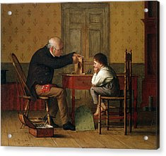 The Clock Doctor, 1871 Acrylic Print by Enoch Wood Perry