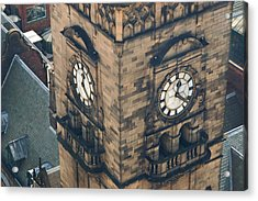 The Clock Tower Of The Sheffield Town Hall. Acrylic Print by Rob Huntley