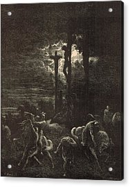 The Close Of The Crucifixion Acrylic Print by Antique Engravings