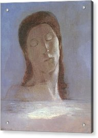 The Closed Eyes, 1890 Acrylic Print by Odilon Redon