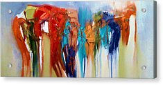 Acrylic Print featuring the painting The Closet by Lisa Kaiser