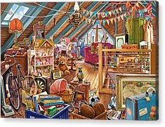 The Cluttered Attic  Acrylic Print by Steve Crisp