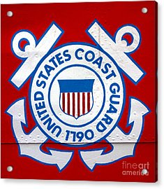 The Coast Guard Shield Acrylic Print by Olivier Le Queinec