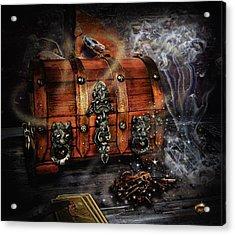 The Coffer Of Spells Acrylic Print by Alessandro Della Pietra
