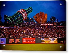 The Coke And Glove Acrylic Print by Eric Tressler