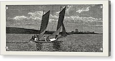 The College Yacht, British Naval Defences Acrylic Print by Litz Collection