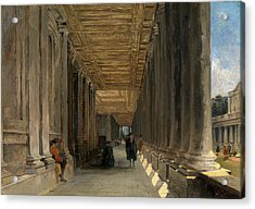The Colonnade Of Queen Marys House, Greenwich Acrylic Print by Litz Collection