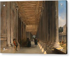 The Colonnade Of Queen Mary's House In Greenwich Acrylic Print by Mountain Dreams