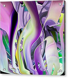 The Color Of Iris - Digital Abstract Art Acrylic Print