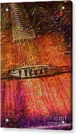 The Color Of Music Digital Guitar Art By Steven Langston Acrylic Print by Steven Lebron Langston