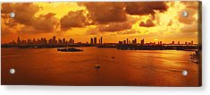 The Color Of Passion Acrylic Print by Michael Guirguis