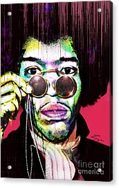 The Color Of Rock - Jimi Hendrix Series Acrylic Print by Reggie Duffie