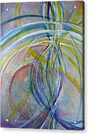 Acrylic Print featuring the painting The Color Of Sound by John Fish