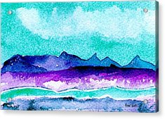 Acrylic Print featuring the painting The Colorado River by Anne Duke