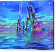 The Colors Have Went Out To Sea. Acrylic Print