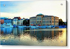 The Colors Of Stockholm Acrylic Print by Jenny Hudson
