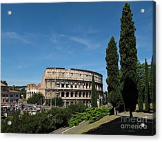 The Colosseum In Rome Acrylic Print by Kiril Stanchev